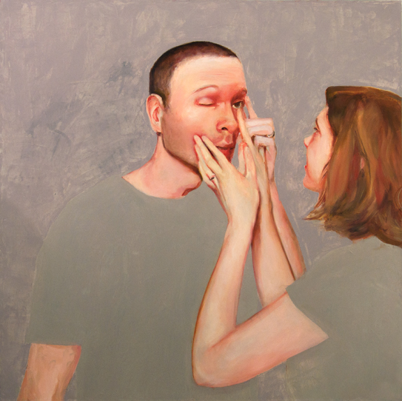 Amanda and John's Eye (Let Me), 3' x 3', oil on canvas, 2010