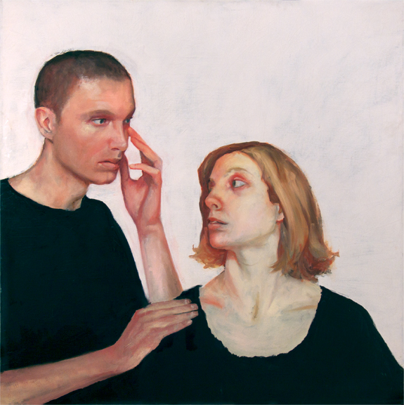 Amanda and John's Eye (Cry Out), 3' x 3', oil on canvas, 2010